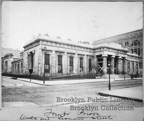 A photo of the first Tombs building also known as The 'New York Halls of Justice and House of Detention'. Built in 1838, it was designed by the English born John Haviland and was based on an engraving of an ancient Egyptian mausoleum.